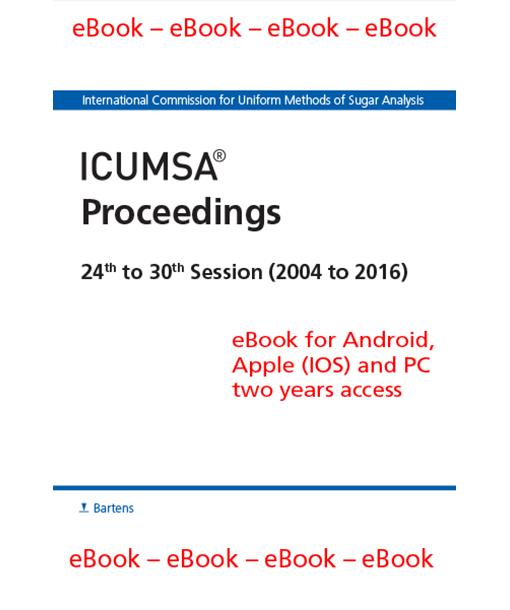 ICUMSA Proceedings 2004 to 2016 eBook
