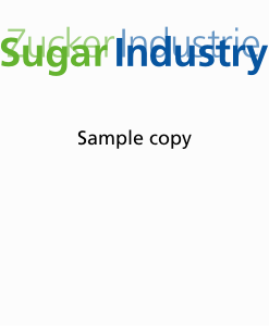 Sugar Industry Journal Sample Copy